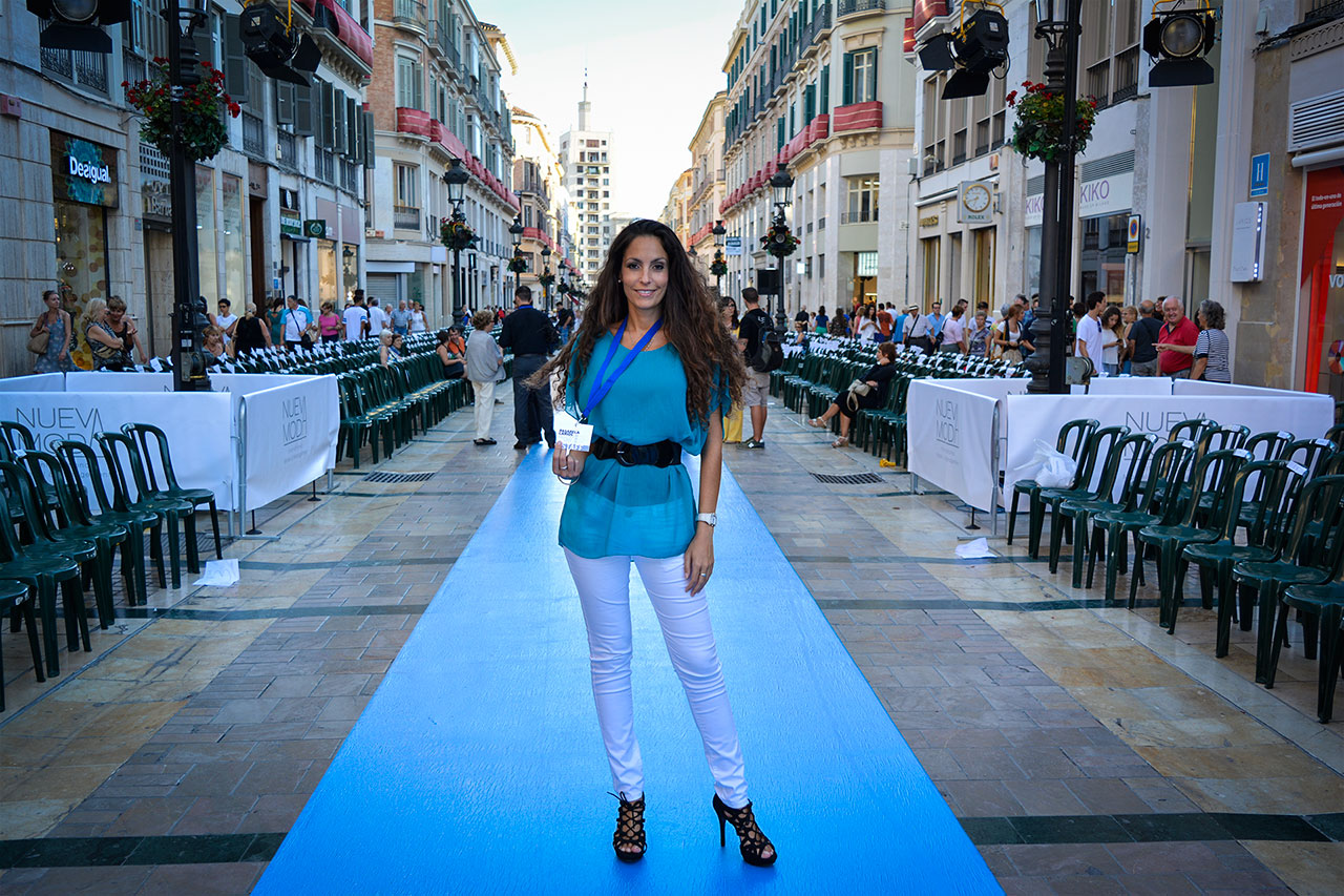 ariana soffici pasarela larios malaga fashion week catwalk