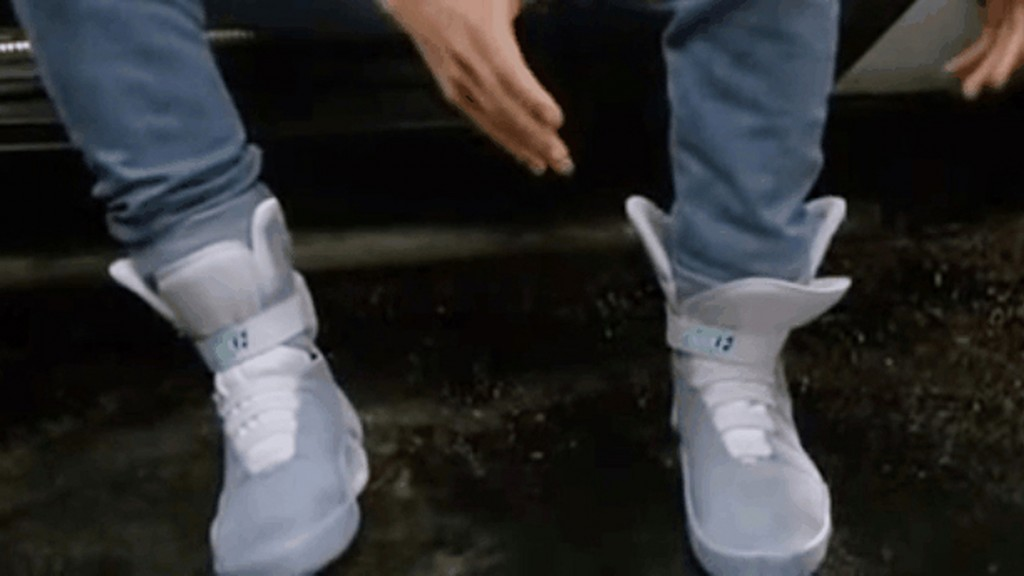 Marty McFly shoes in Back to the Future II