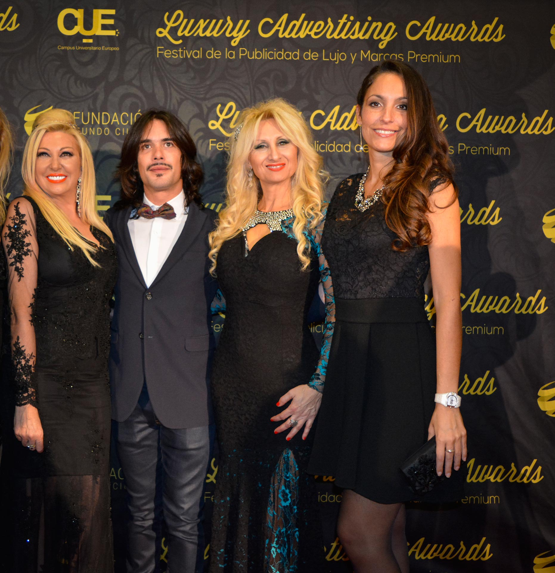 Ana, Juan de Juan, Antonella & Ariana at Luxury Advertising Awards - www.arianasoffici.com