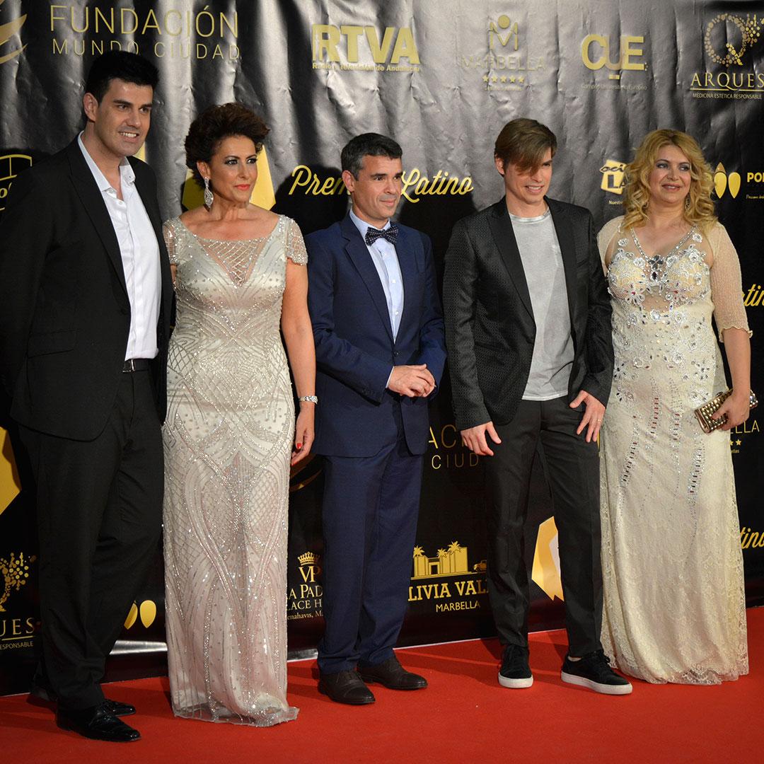 Irma Soriano, Mayor of Marbella, singer Carlos Baute & Maria Cansino at Premios Latino
