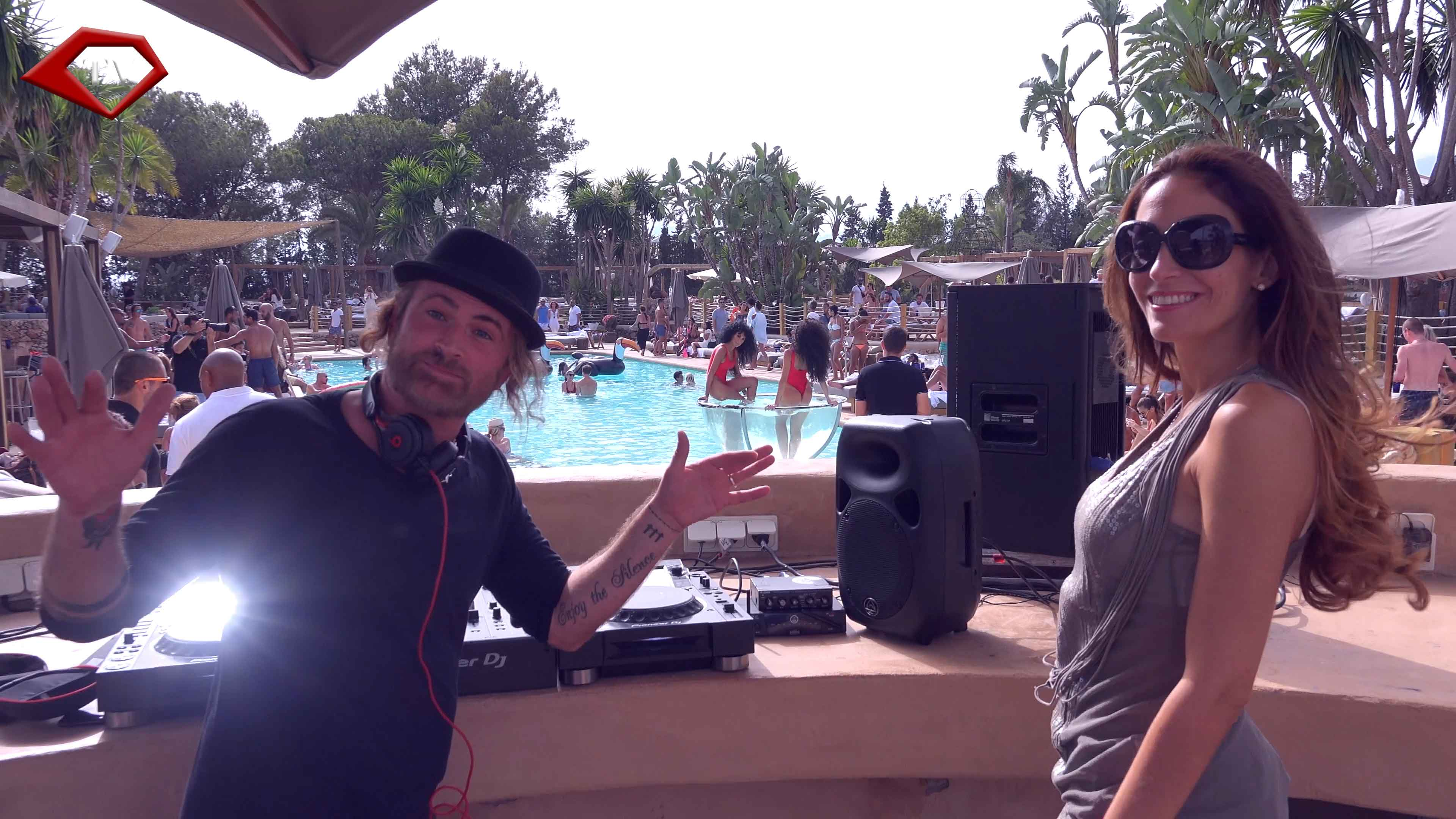 JP-Candela with Ariana Soffici at Nao Pool Club for Style Passion TV