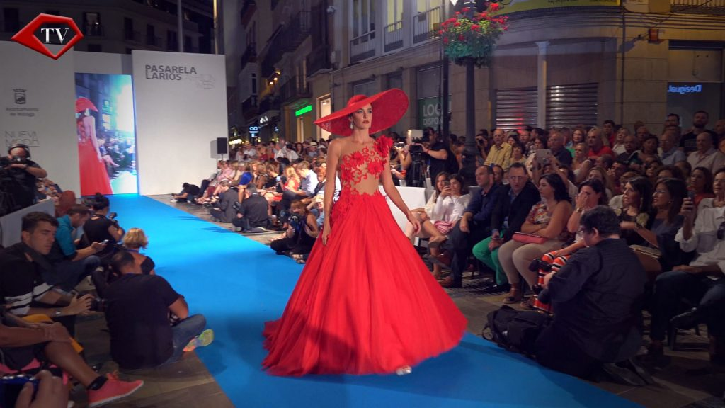 Sonia Peña dress at Pasarela Larios Malaga Fashion Week www.arianasoffici.com