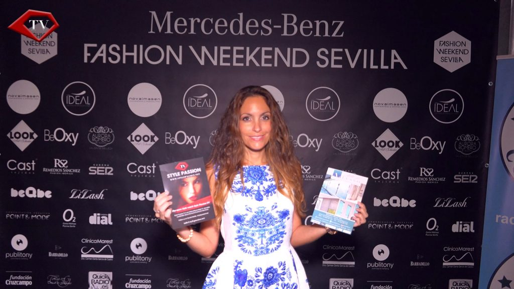 Ariana with Style Passion TV & Arte del Lusso at Mercedes-Benz Fashion Weekend Sevilla 2016 www.arianasoffici.com