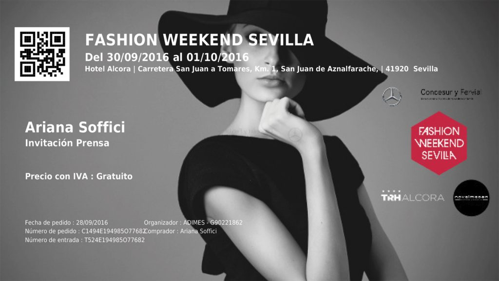 Mercedes Benz Fashion Weekend Sevilla 2016 www.arianasoffici.com