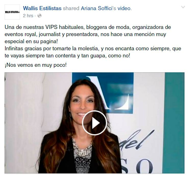 Wallis Estilistas mentioned Ariana Soffici at Arte del Lusso Grand Opening
