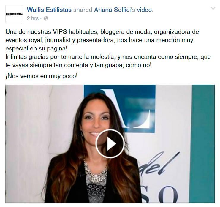 Wallis Estilistas mentioned Ariana Soffici at Arte del Lusso Grand Opening