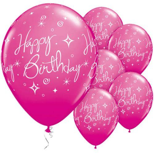 Elegant Happy Birthday Balloons Wild Berry Ariana Soffici