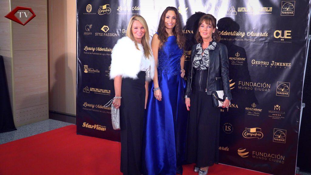 Ariana Soffici with Sonia Peña dress at Luxury Advertising Awards Marbella