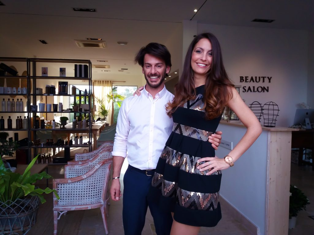 Ariana Soffici at Geoffrey Lo Pilato Beauty Salon Marbella