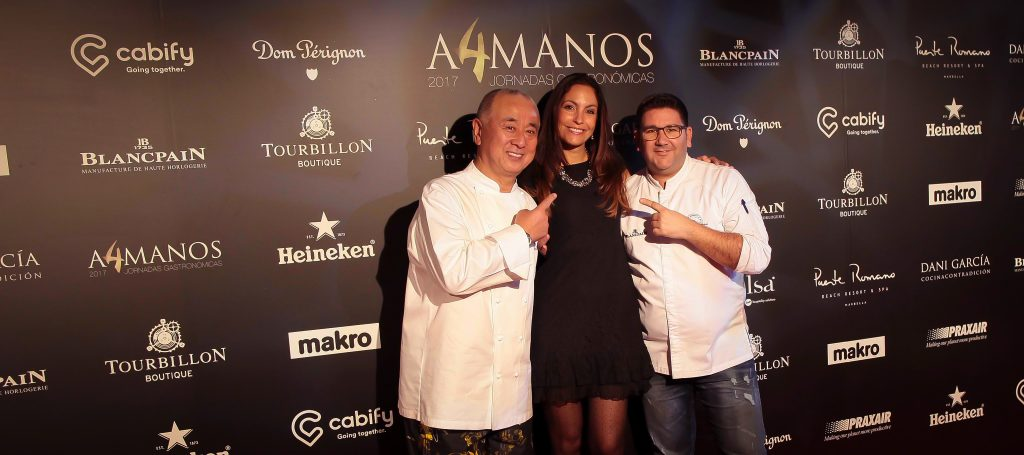 Ariana Soffici with Nobu & Dani Garcia at Puente Romano Marbella