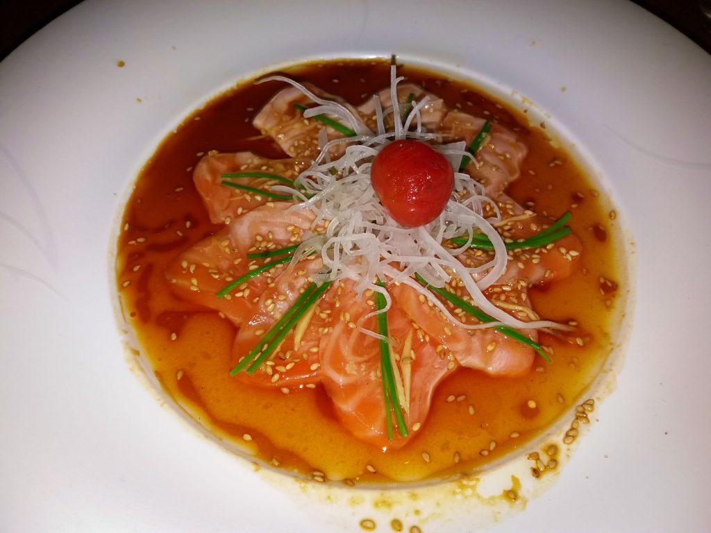 New Style Salmon Sashimi Nobu Marbella www.arianasoffici.com