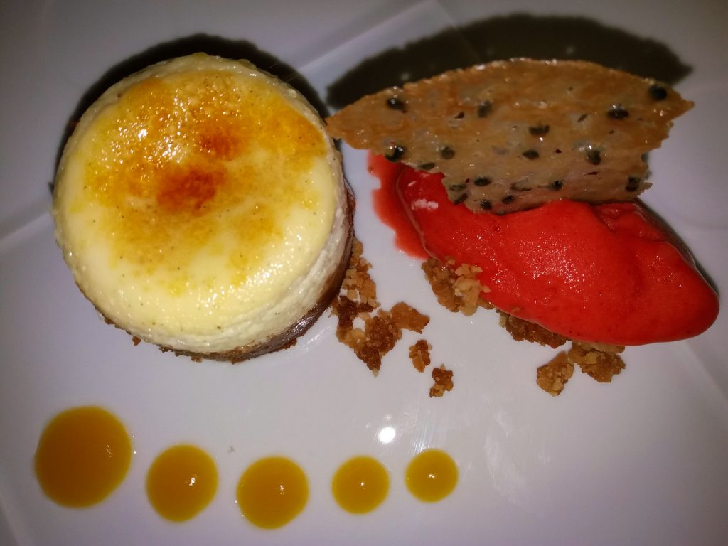 Cheesecake with strawberry ice cream Nobu Marbella www.arianasoffici.com
