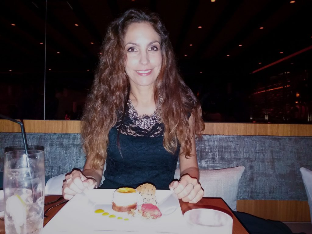 Ariana Soffici having dinner at Nobu Marbella www.arianasoffici.com