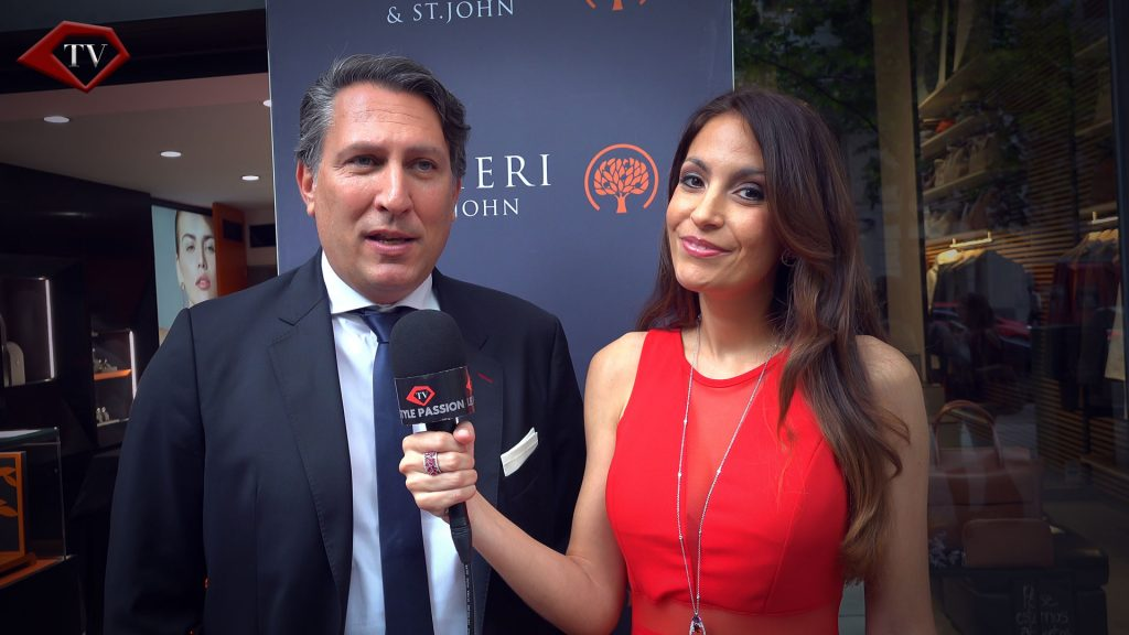 Fabio Godano CEO Gens Aurea & Ariana Soffici in Madrid