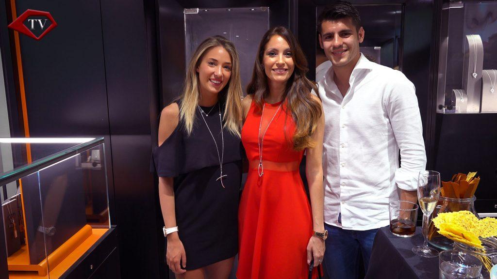 Alice Campello, Ariana Soffici & Alvaro Morata